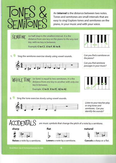 Tones and Semitones